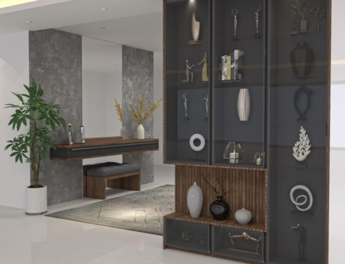 آینه کنسول و طراحی دکوراسیون ورودی منزل