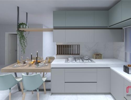 کابینت مدرن آشپزخانه منزل دوستی از طراحی تا اجرا