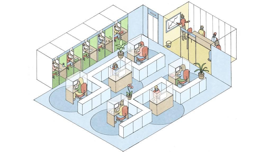 تغییر معماری فضای کار در زمان کرونا