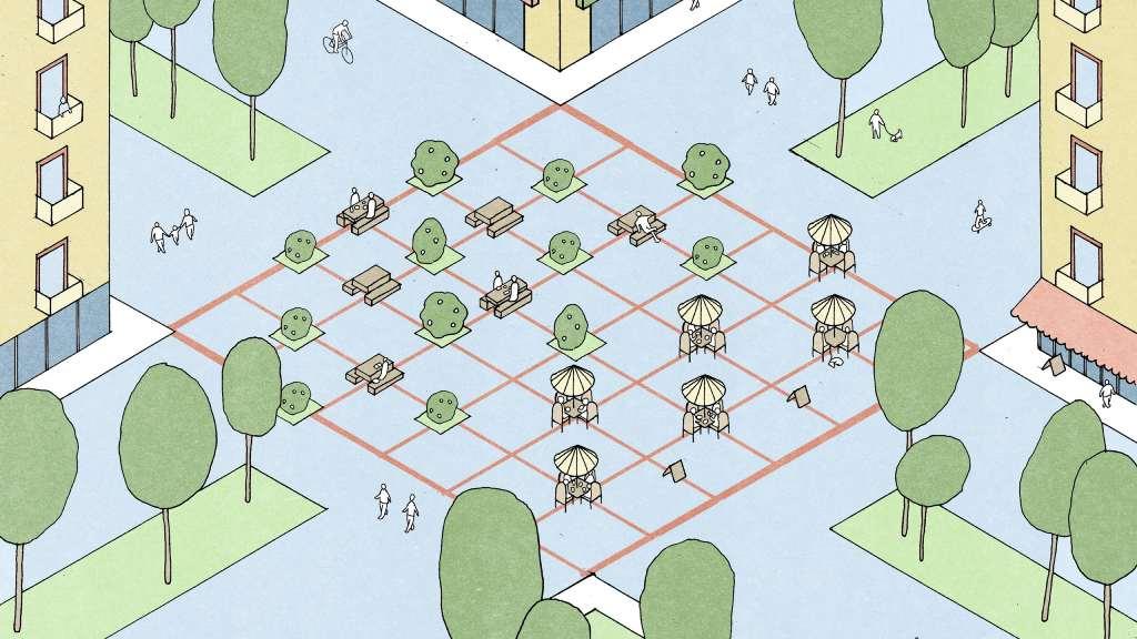 تغییر معماری فضای شهری و پارک ها با رعایت فاصله اجتماعی