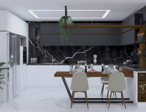 کابینت آشپزخانه مدرن منزل نورالدین از طراحی تا اجرا