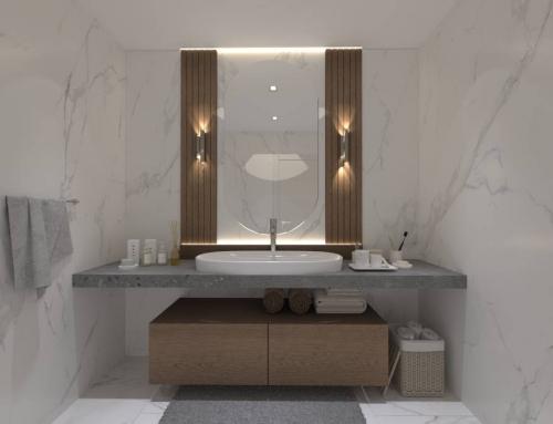 طراحی سرویس بهداشتی و حمام منزل حسینی به سبک مدرن