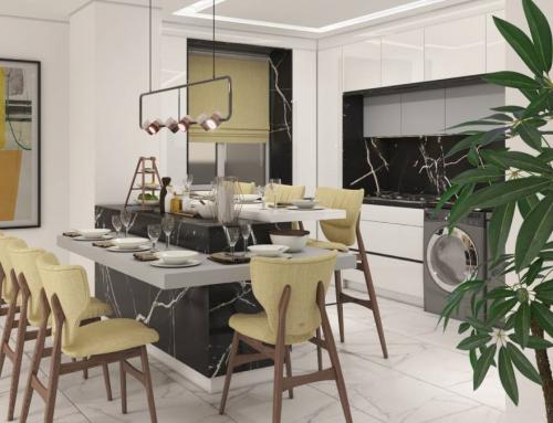 آشپزخانه مدرن | طراحی کابینت آشپزخانه منزل بهادری
