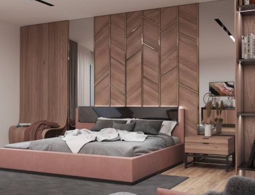 طراحی دکوراسیون خواب مستر منزل محبوبی